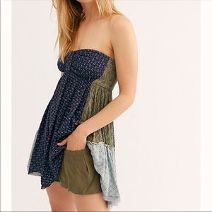 Free People | Across The Sea Strapless Tunic Top M